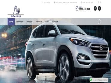 Kei cars website design company kenya complete past work