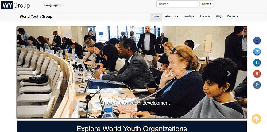 World youth group web design and seo by kevsam solutions